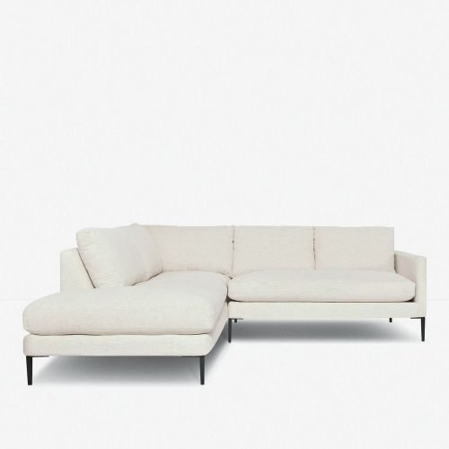 Allisen Left-Facing Bumper Sectional Sofa, Sand