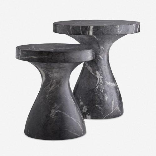 Arteriors Serafina Side Table, Black