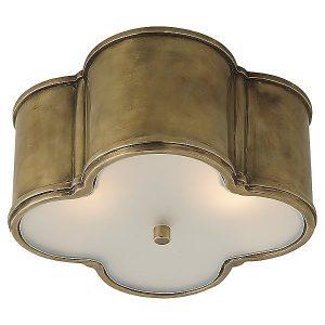 Basil Flush Mount Ceiling Light by Visual Comfort - Color: Natural Brass - Finish: Natural Brass - (AH 4014NB-FG)