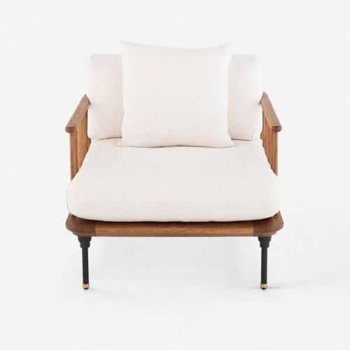 Chambley Accent Chair, Light Oak