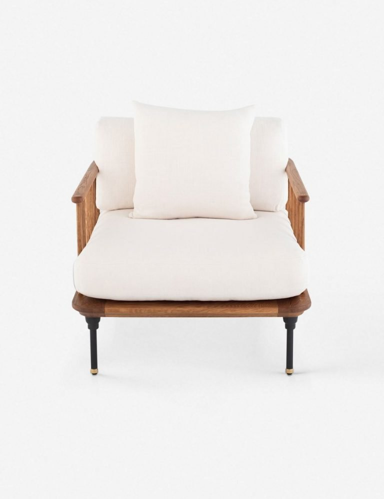 Chambley Accent Chair, Light Oak