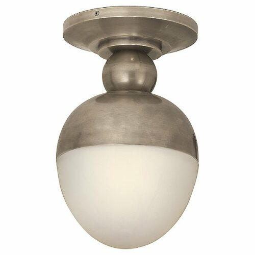 Clark Flush Mount by Visual Comfort - Color: White - Finish: Antique Nickel - (TOB 4006AN-WG)