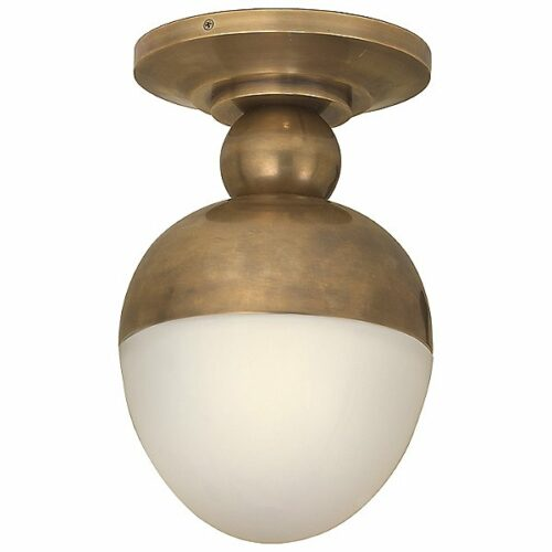 Clark Flush Mount by Visual Comfort - Color: White - Finish: Hand-Rubbed Antique Brass - (TOB 4006HAB-WG)