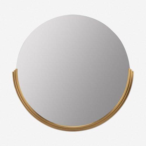 Coralie Round Mirror, Gold