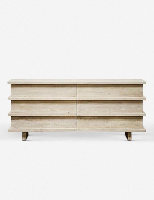 Corliss 6-Drawer Dresser, White Wash