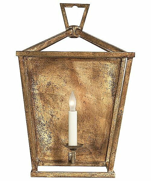 Darlana Wall Sconce by Visual Comfort - Color: Iron - Finish: Gilded Iron - (CHD 2165GI)