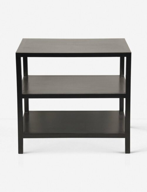 Emmeline Nightstand, Hand Rubbed Black