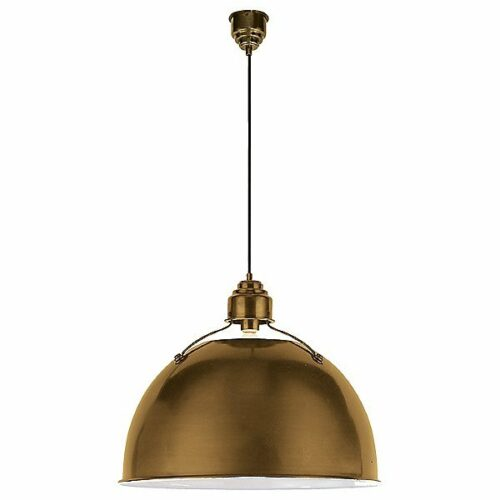Eugene Pendant by Visual Comfort - Color: Gold - Finish: Hand-Rubbed Antique Brass - (TOB 5000HAB)