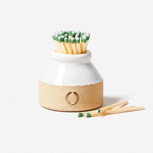 Farmhouse Pottery Milk Bottle Match Striker