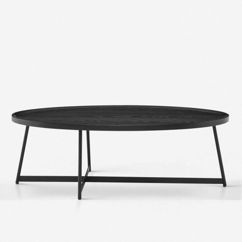 Gweneth Oval Coffee Table, Black Ash