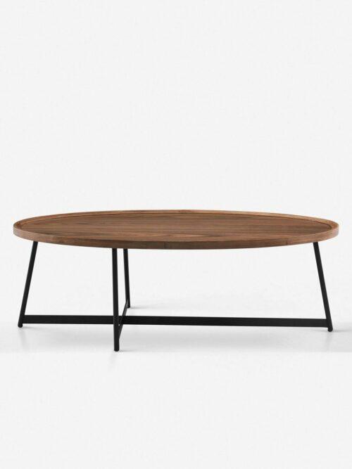 Gweneth Oval Coffee Table, Walnut