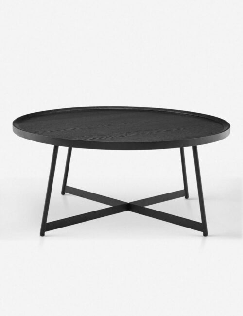 Gweneth Round Coffee Table, Black Ash