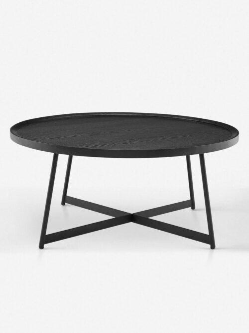 Gweneth Round Coffee Table, Black Ash