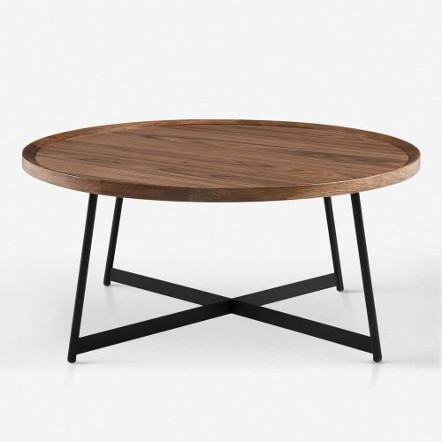 Gweneth Round Coffee Table, Walnut
