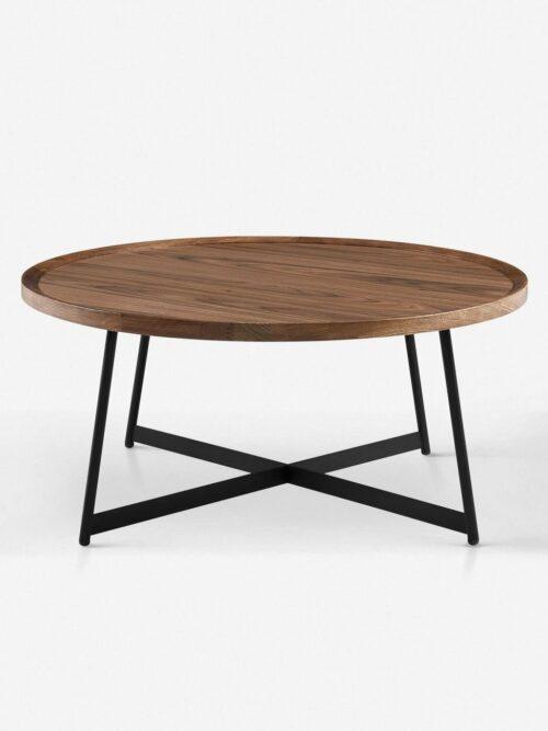 Gweneth Round Coffee Table, Walnut