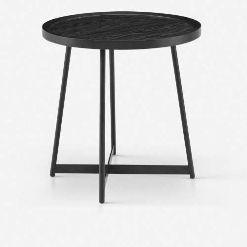 Gweneth Side Table, Black Ash