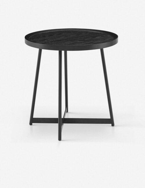 Gweneth Side Table, Black Ash