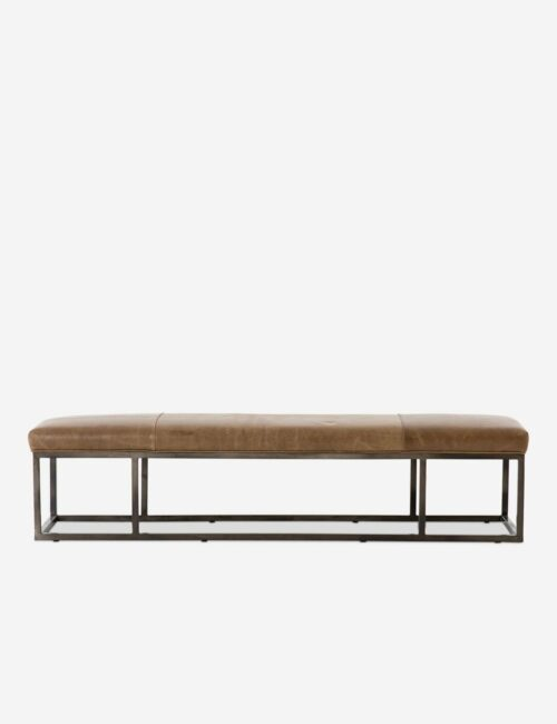 Kabina Leather Bench