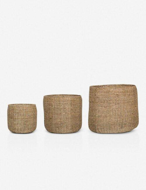 La Jolla Seagrass Baskets (Set of 3)