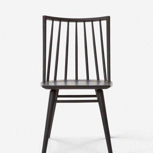 Lanae Dining Chair, Black Oak