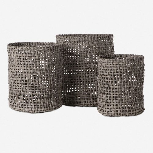 Laura Baskets, Natural (Set of 3)