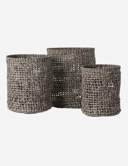 Laura Baskets, Natural (Set of 3)