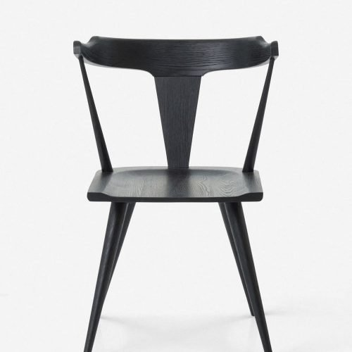 Lawnie Dining Chair, Black Oak