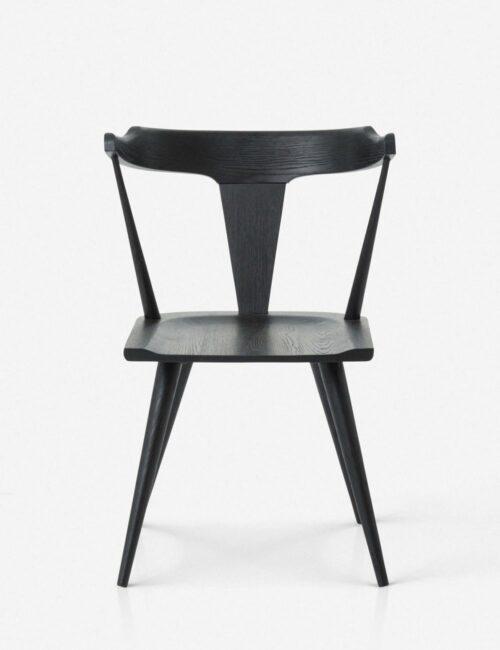 Lawnie Dining Chair, Black Oak