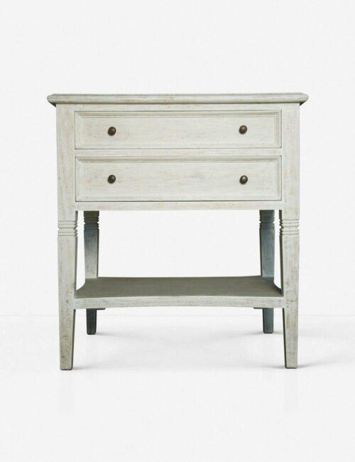 Luna 2-Drawer Nightstand, White Wash