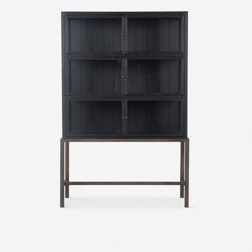 Marisa Curio Cabinet, Black Oak