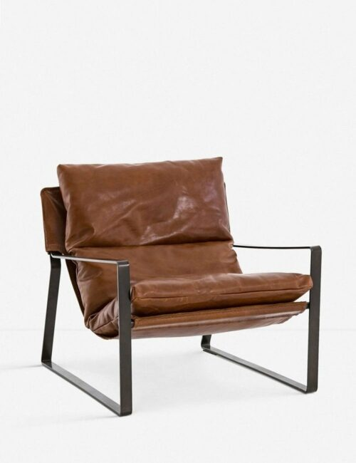 Marlyne Leather Accent Chair