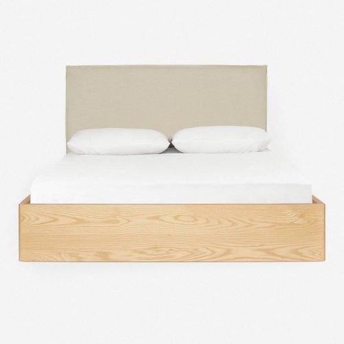 Nia Bed, Natural