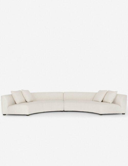 Saban 2-Piece Curved Sectional Sofa