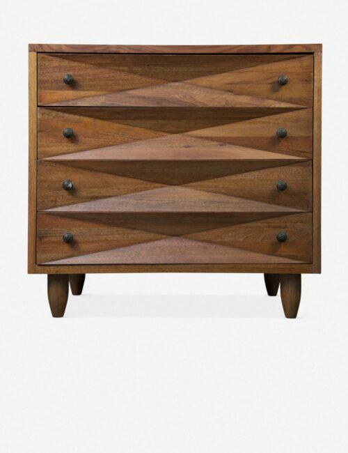 Sen 4-Drawer Dresser, Dark Walnut