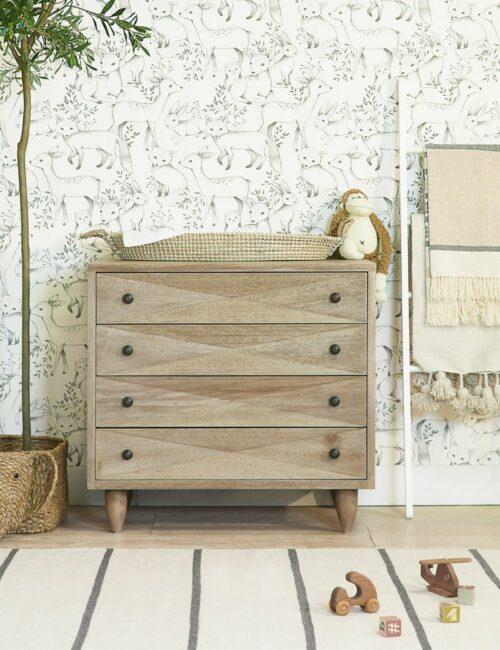 Sen 4-Drawer Dresser, Walnut
