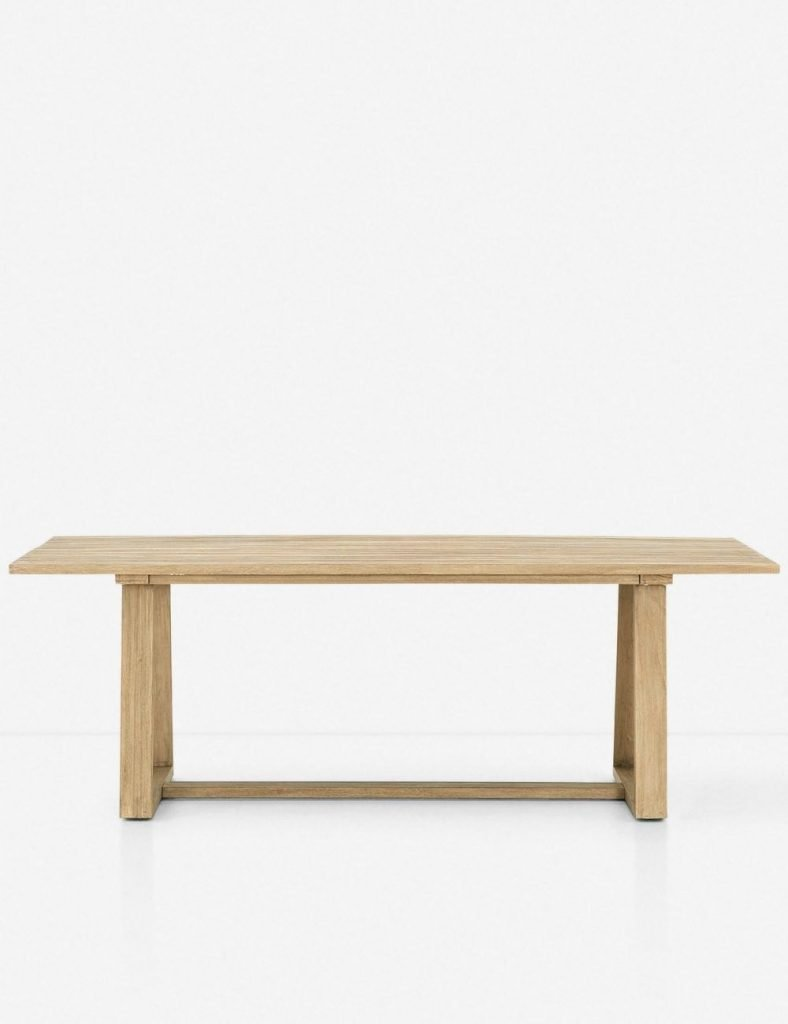 Tika Indoor / Outdoor Dining Table, Natural