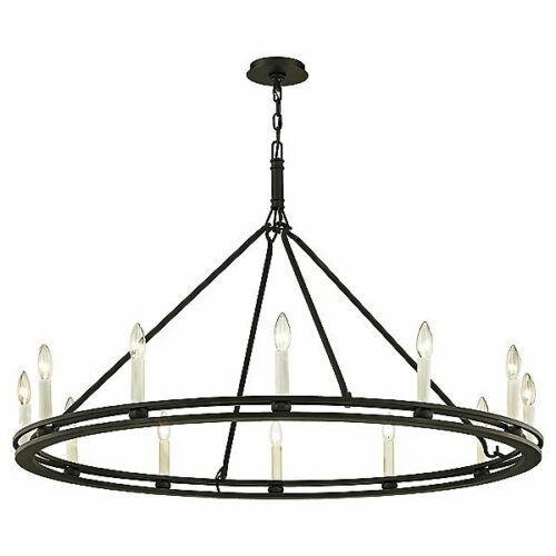 Troy Lighting Sutton Chandelier - Color: Black - F6237