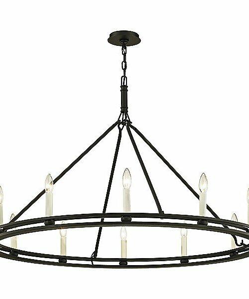 Troy Lighting Sutton Chandelier - Color: Black - F6237