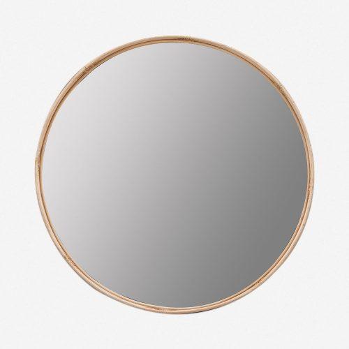Adaline Round Mirror, Natural