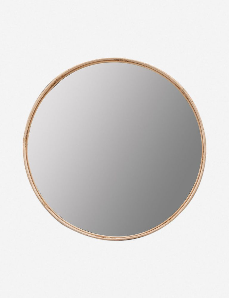 Adaline Round Mirror, Natural