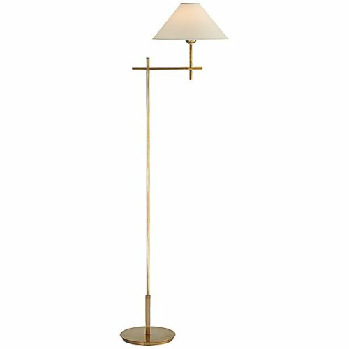 Hackney Bridge Arm Floor Lamp by Visual Comfort - Color: Brass - Finish: Brass - (SP 1023HAB-NP)