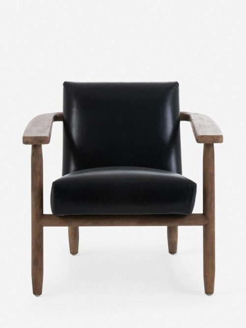 Jacy Leather Accent Chair