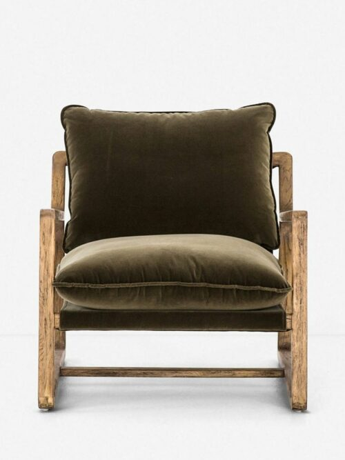 Krista Accent Chair, Olive Green