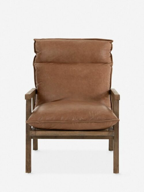 Rowena Leather Accent Chair