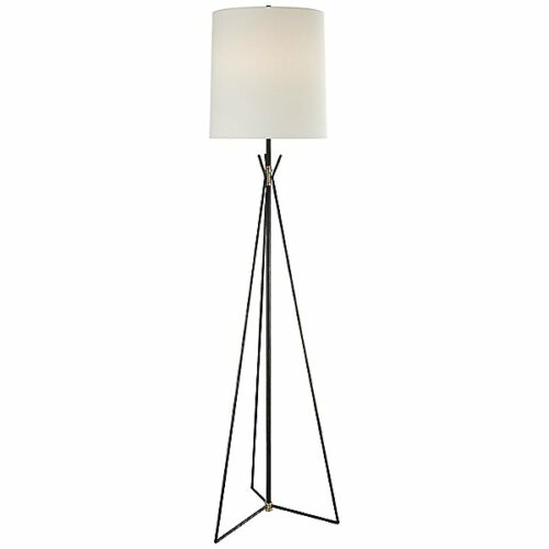 Tavares Floor Lamp by Visual Comfort - Color: Black - Finish: Iron - (TOB 1390AI/HAB-L)