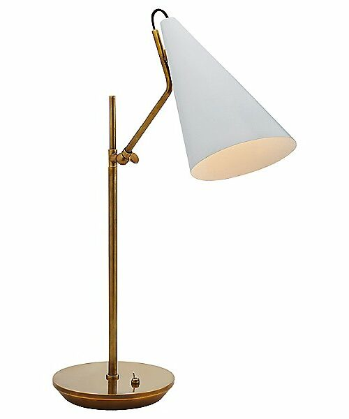 Visual Comfort Clemente Table Lamp - Color: White - ARN 3010HAB-WHT