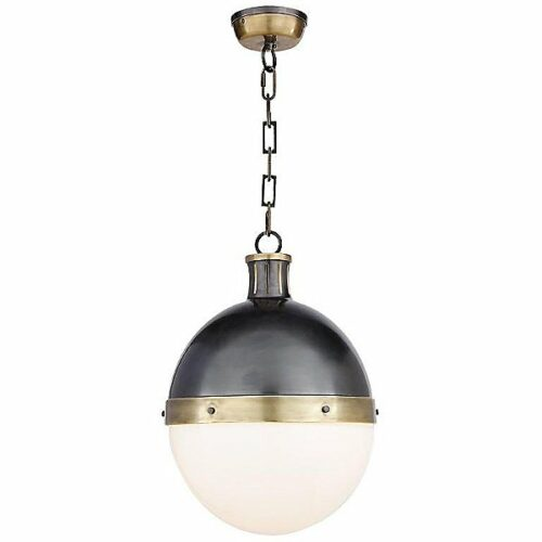 "Visual Comfort Hicks Pendant Light - Color: Gold - Size: 18"" - TOB 5063BZ/HAB-WG"