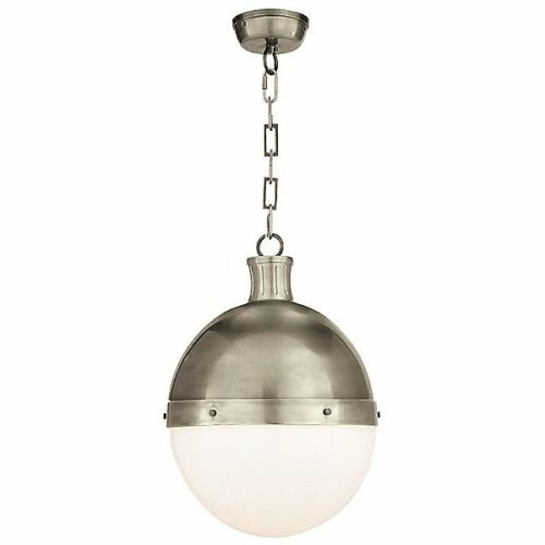 "Visual Comfort Hicks Pendant Light - Color: Silver - Size: 18"" - TOB 5063AN-WG"