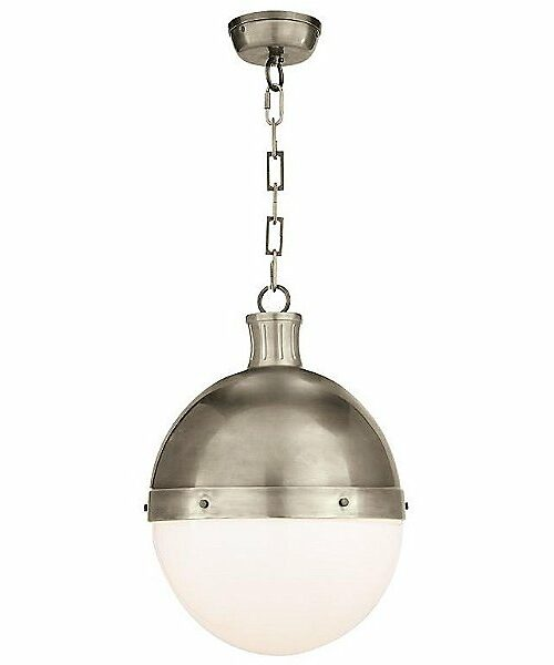 "Visual Comfort Hicks Pendant Light - Color: Silver - Size: 18"" - TOB 5063AN-WG"