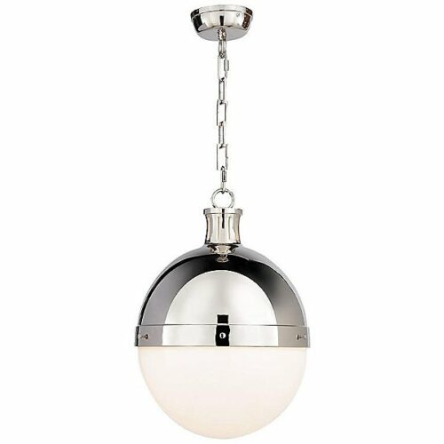 "Visual Comfort Hicks Pendant Light - Color: Silver - Size: 18"" - TOB 5063PN-WG"